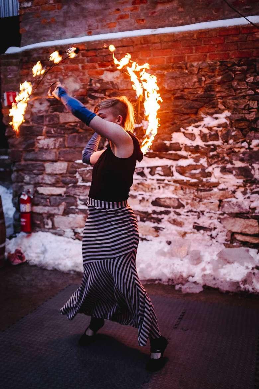 female fire dancer