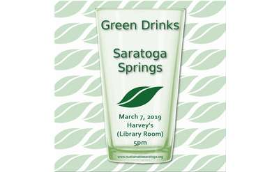 Banner for Green Drinks Saratoga Springs