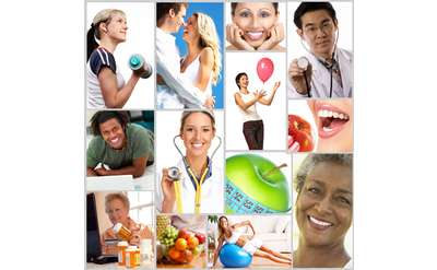 Health photos collage