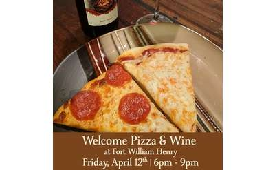 welcome pizza and wine image