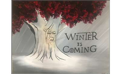 "Example painting of ""Winter is Coming"""