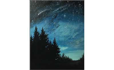 "Example painting of ""Falling Star"""