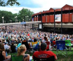SPAC crowd on the lawn