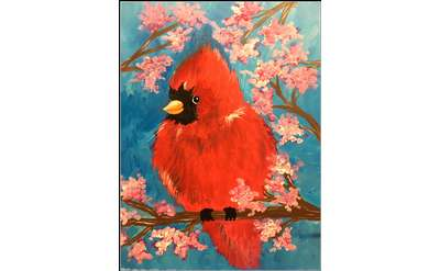 "Example painting of ""Spring Cardinal"""