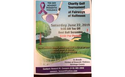 Tee Off Against Domestic Violence Poster