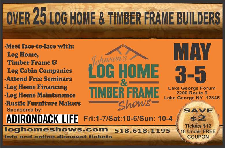 log home timber and  show banner