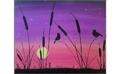 Cattails Painting Example
