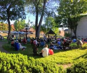 crowd at outdoor concert