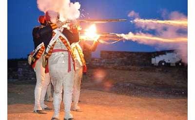 Ticonderoga Guns by Night Photo