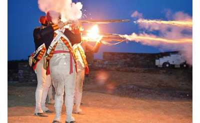 Ticonderoga Guns by Night Photo