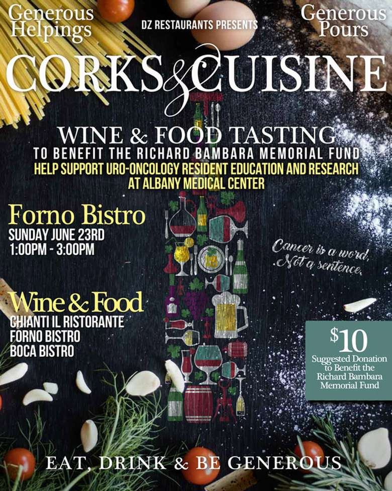 Corks and Cuisines Poster