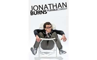 jonathan burns flexible comedy event poster