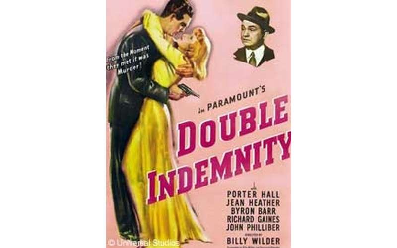 film poster for double indemnity