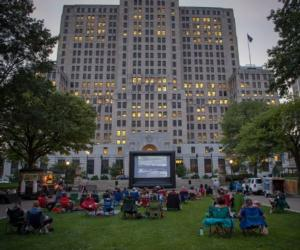outdoor film screening