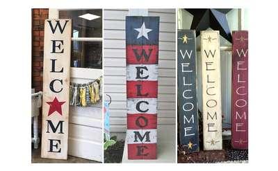 Patriotic Porch Welcome Signs
