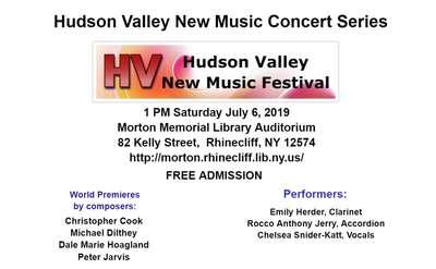 Hudson Valley New Music Concert Series Banner