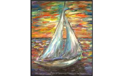 "Example painting of ""Sunset Sail"""