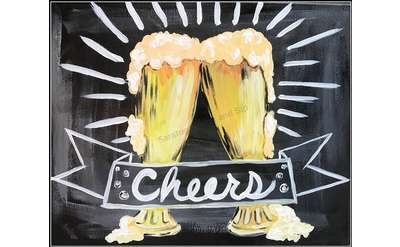"Example painting of ""Cheers"""
