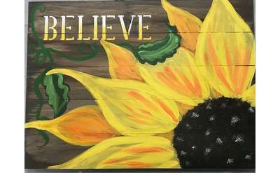 Sunflower Board Art Paint Event - Special Price & Family Friendly!