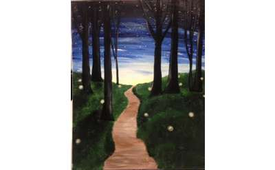 Night Fireflies Paint Event - Special Price & Family Friendly!
