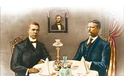 President Teddy Roosevelt and Dr. Booker T. Washington Painting