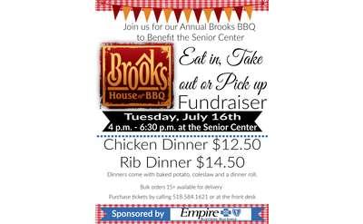 Brooks BBQ Fundraiser Poster