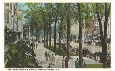 Saratoga Broadway Old Postcard