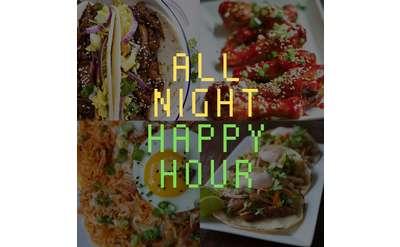 All Night Happy Hour Banner