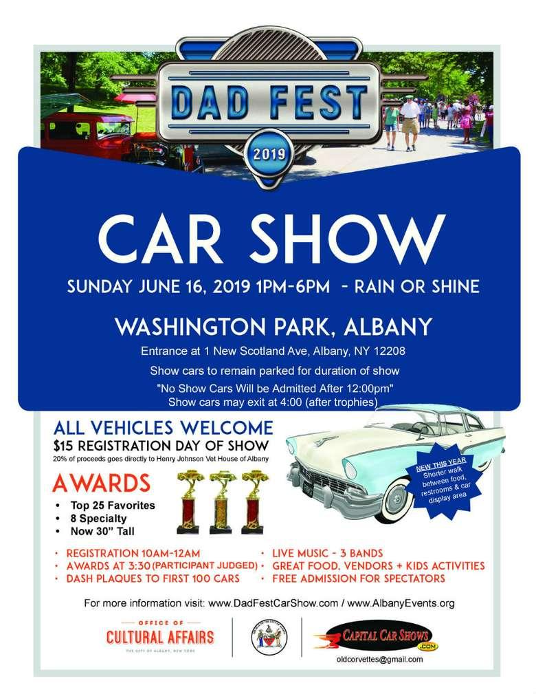 Dad Fest Car Show Poster
