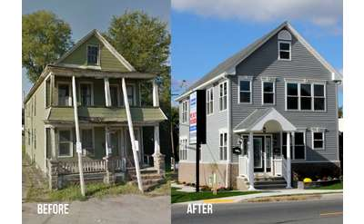 Before and After House Flip Photo 1