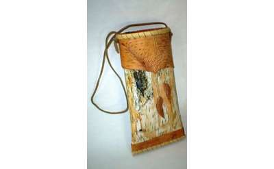 Folded Birch Bark Photo