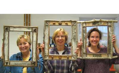 Birch Bark Picture Frames and Mirrors Photo