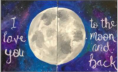 """""""To the Moon and Back"""" Painting Example"""