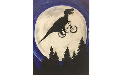 """T Rex Phone Home"" Painting Example"