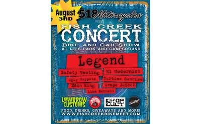 Fish Creek Concert Poster