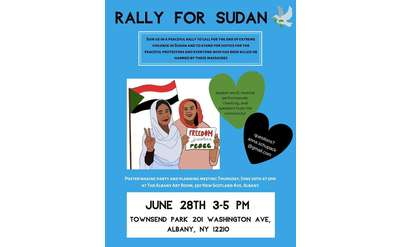 rally for sudan event poster