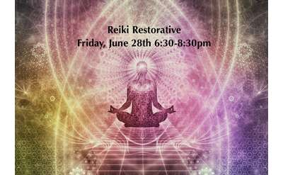 Reiki and Restorative Yoga Banner