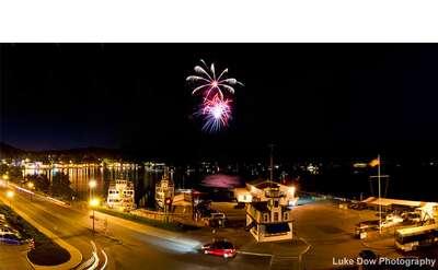 Fireworks in Lake George Village