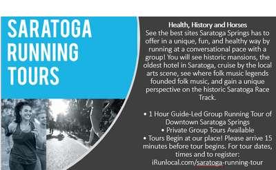 Saratoga Running Tours Banner