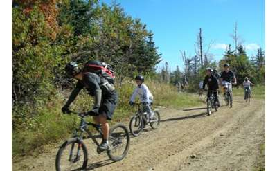 Mountain Bike Skills Development Group on a Cross-Country Ride at Gore Mountain