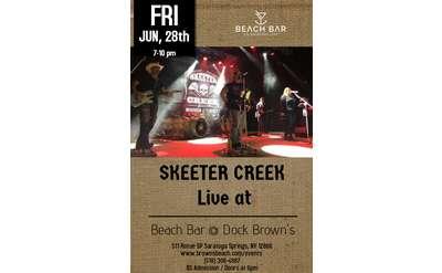 Skeeter Creek Live at the Beach Bar @ Dock Browns