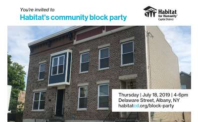 Habitat for Humanity community block party Banner
