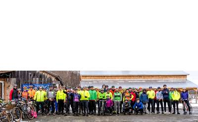 Large Group of Cyclists Photo