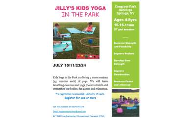 Kids Yoga in the Park Poster
