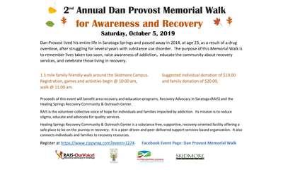 Dan Provost Memorial Walk Banner