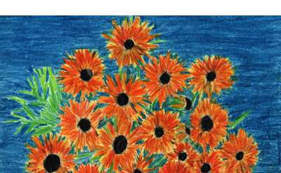 Sunflowers Example Painting