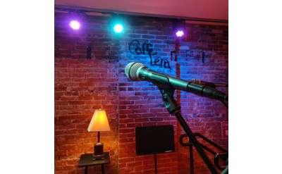 Caffè Lena Poetry Open Mic Banner
