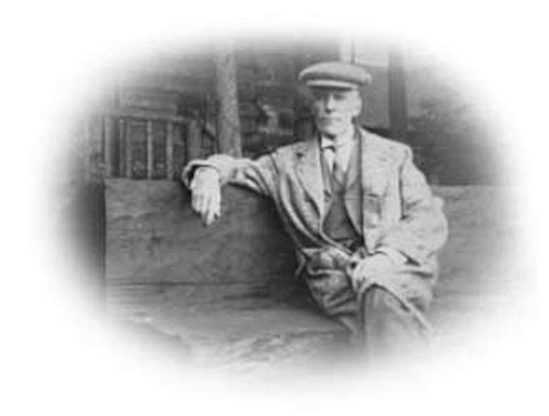 black and white photo of man