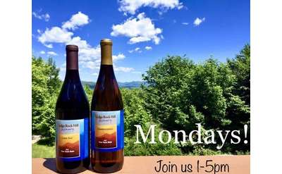 Dark Day Turns Light: Ledge Rock Hill Winery Mondays!