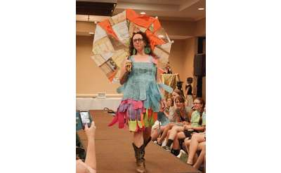 See and Share fashions made from discarded items! Sustainable, Fashionable,and Fun!!